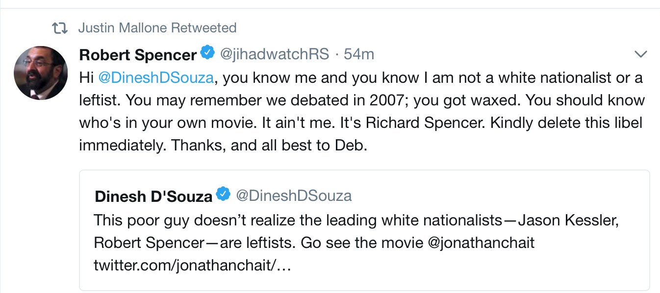 c663a7b93a607 The quality of most political attacks is so low that Robert Spencer   routinely  gets mixed up for Richard Spencer.